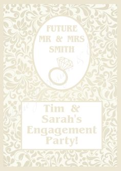 Party Poster Prints #Natural #Nude #Cream #Damask #Floral #Engagement #Party #Colour #Schemes #Bunting #Party #Decorations #Ideas #Banners #Cupcakes #WallDisplay #PopTop #JuiceLabels #PartyBags #Invites #KatieJDesignAndEvents #Personalised #Creative