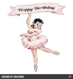 Ballerina Cake Topper  Printable  DIY  by PinkPaperTrail on Etsy