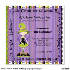 #zazzle Sold this #hocuspocus #halloween #witch #invitations to NJ. Thanks for you who purchased this. Check more at www.zazzle.com/graphicdesign/halloween+birthday