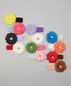 Take a look at the juDanzy Rainbow Crocheted Headband & Flower Clip Set on #zulily today!