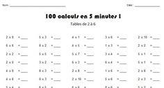 de multiplication à imprimer cm2   tables de X   Pinterest ...