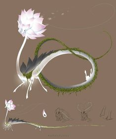 by mamasaurus on DeviantArt Cute Fantasy Creatures, Mythical Creatures Art, Mythological Creatures, Magical Creatures, Creature Concept Art, Creature Design, Cute Animal Drawings, Cute Drawings, Wolf Drawings