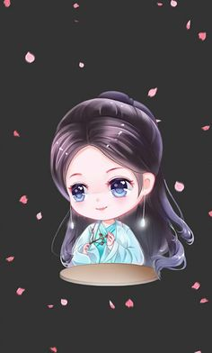 Yang Mi 杨幂 白浅 手绘 Peach Blossom Tree, Peach Blossoms, Chibi Anime, Chinese Cartoon, Korean Anime, Manga Collection, Character Design Girl, Chibi Girl, Couple Wallpaper