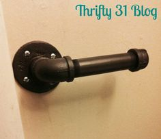 Thrifty 31 Blog: Rustic Industrial Toilet Paper Holder...only stand it upright....not sideways.