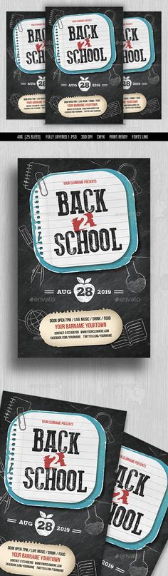 Back to School Flyer  PSD Template • Download ↓ https://graphicriver.net/item/back-to-school-flyer/16937717?ref=pxcr