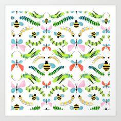 Caterpillars Art Print by Sian Keegan - $17.00