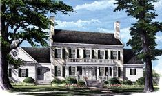 5 Bedroom Colonial House Plan in Country Farmhouse