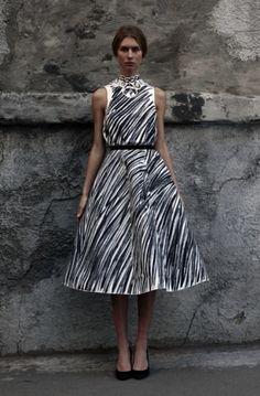 Vika Gazinskaya via Style Bubble - love the print