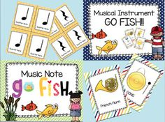 Music note go fish this packet is designed to reinforce for How do you play go fish card game