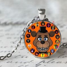 Indie Game 5 Five Nights at Freddy's Necklace Toys FREDDY FAZBEAR Scrabble Tile Pendant necklace glass