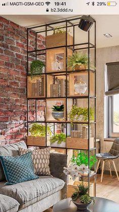 304, Living Room Pictures, Shelving, Planter Pots, Divider, Sofa, House Design, Home Decor, Coat Tree