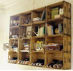 Wood box shelfs