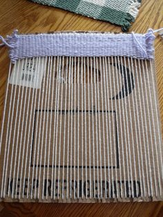 MUST DO WITH OLD TEE SHIRTS!!!  Cardboard Weaving Loom