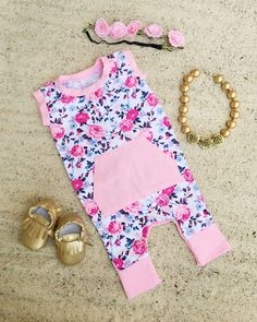 The Deluxe Floral Pocket Romper