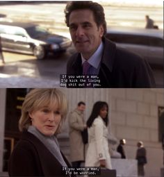Glenn Close as Patty Hewes > Damages. Pattyisms