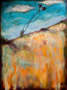 "Saatchi Online Artist: Linda Olsen; Acrylic, 2012, Painting ""Kites"""