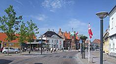 Byen Stege på Møn. The City Stege on Møn
