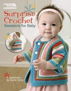 Free Easy crochet Patterns for Baby Cardigans and Baby Crochet sweater pattern or layette Sets. Nothing is as cute as baby wearing a beautiful handcrafted crochet cardigan or a cute crochet sweater. Crochet Baby Sweater Pattern, Crochet Baby Jacket, Crochet Baby Sweaters, Baby Sweater Patterns, Crochet Baby Clothes, Cute Crochet, Crochet For Kids, Baby Patterns, Easy Crochet