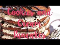 Oreo Pancakes (or Cookies and Cream Pancakes) - Grandbaby Cakes