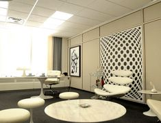 Mad Men: Rogers new office  Identical rental furnishings available from FormDecor!
