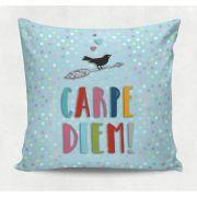 Almofada decorativa em tecido estampado - CARPE DIEM – 45cm X 45cm - Decorsoft - Almofadas com estampas lindas. Aqui você encontra! @decor_soft http://www.decorsoft.com.br/ #decorsoft #decor #almofadas #decoração #adorable