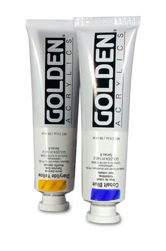 the paint I'm using (Golden heavy body acrylics)