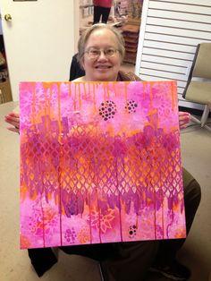 Fun at Betty's Mixed Media Painting, Painting Art, Fairy Cakes, Creative Studio, Abstract Art, Canvas Art, Diy Crafts, Artist, Mix Media