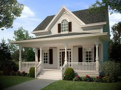 The Jefferson is a very small Victorian style house with an extremely simple layout. Very good for a starter home.