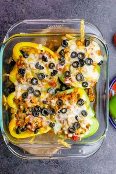 Chicken Taco Stuffed Peppers are cheesy, easy, and so incredibly delicious! Low carb, gluten free, and a fun family dinner everyone loves!