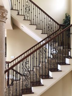 Home Improvement Archives Custom Home Builders, Custom Homes, Remodeling Contractors, Stairways, Wrought Iron, Home Improvement, Railings, Rooms, Beautiful