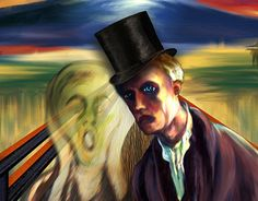 """This is my entry for the Adobe Contest """"The Scream - Hidden Treasures of Creativity"""", using Munch's original brushes, namely, the Photoshop version of his tools created/adapted by Kyle T. Webster for Adobe. This contest is also sponsored by the Munch … Famous Words, Dog Art, Scream, New Work, Adobe, Behance, Photoshop, Gallery, Illustration"""