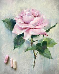 Oil Pastel Colours, Chalk Pastel Art, Soft Pastel Art, Pastel Flowers, Pastel Drawing, Chalk Pastels, Art Floral, Oil Pastel Paintings, Watercolor Paintings
