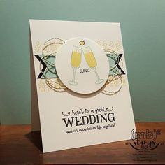Cheers To The Future card using Mixed Drinks and Better Together stamp sets by Merit Brown, Independent Demonstrator for Stampin' Up!®