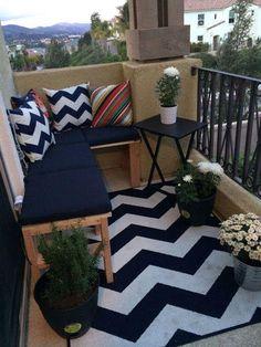 Algunas ideas muy sencillas para decorar nuestro balcón. Un oasis en medio de la ciudad.