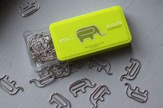 Japanese office supplies. Elephant paperclips.