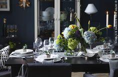 Une touche florale à votre table. Table STORNÄS IKEABE àtable àchaquejoursesplaisirs classique fête diner