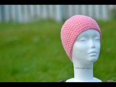 lær at hækle fastmasker (fm), luftmasker (lm) og at tælle rækker Chrochet, Knit Crochet, Beanie, Knitting, Tips, Youtube, Crochet, Crocheting, Tricot