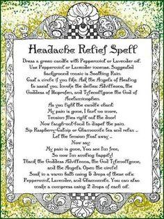 Headache relief spell.