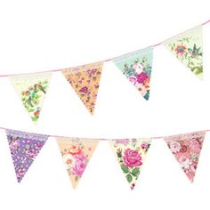 Shabby Chic Alice in Wonderland Wedding Floral  Bunting Vintage Afternoon Tea