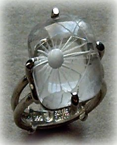 """Sunshine"" Quartz reverse intaglio ring"