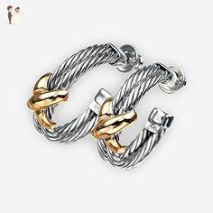 14K Gold and 925 Sterling Silver Handmade Cross Earrings - Wedding earings (*Amazon Partner-Link)