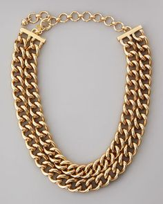 Lee Angel Double Row Curb Chain Necklace