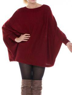 Long Sleeve Bat Wing Sweater