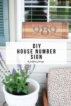 DIY House Number Sign, DIY House Address Sign, Street Address by @CraftivityD