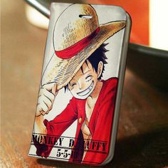 Monkey D Luffy One Piece custom wallet case for iphone 4,4s,5,5s,5c,6 and samsung galaxy s3,s4,s5 - LSNCONECALL.COM