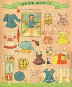 (⑅ ॣ•͈ᴗ•͈ ॣ)♡                                                             ✄Picture Cutout Dolls, Summer, Winter, Spring, and Autumn