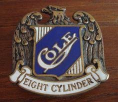 Cole Motor Co. Car Badges, Car Logos, Company Badge, Detroit Motors, Hood Ornaments, Car Stuff, Old And New, Planes, Script