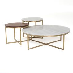 Darby Home Co Sealy 3 Piece Coffee Table Set Table Decor Living Room, Living Room Tv, Living Room Furniture, 3 Piece Coffee Table Set, Round Coffee Table, Sofa End Tables, Furniture Deals, My New Room, Living Room Designs