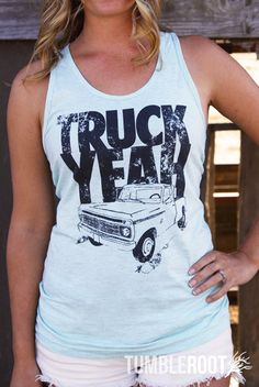 Truck Yeah! Country Unisex Tank Top - Ash Grey Sea Foam - Tim McGraw Inspired - Made in the USA on Etsy, $23.95