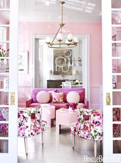 Pink and Purple Bedroom Accessories Fresh Pink Home Decor Pink Decorating Ideas Living Room Designs, Living Room Decor, Bedroom Decor, Dining Room, French Style Homes, Pink Home Decor, European Home Decor, Spacious Living Room, Bedroom Accessories